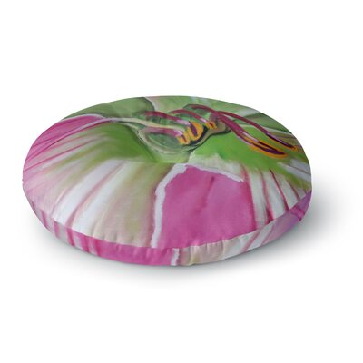 Cathy Rodgers Flower Round Floor Pillow Size: 23 x 23