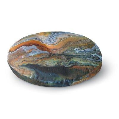 Carol Schiff Geologic Veins Round Floor Pillow Size: 26 x 26