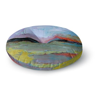Carol Schiff Hues Painting Round Floor Pillow Size: 26 x 26
