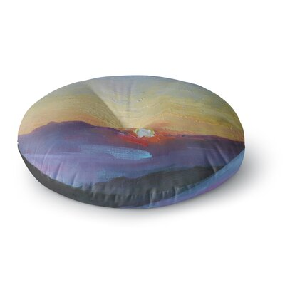 Carol Schiff Mountain Sunset Nature Round Floor Pillow Size: 26 x 26