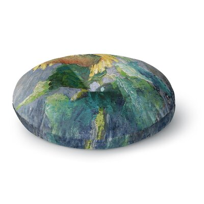 Carol Schiff Lonely Sunflower Nature Round Floor Pillow Size: 23 x 23