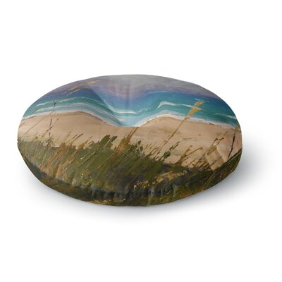 Carol Schiff Florida Beach Scene Coastal Round Floor Pillow Size: 26 x 26