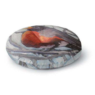 Carol Schiff Winter Robin Round Floor Pillow Size: 26 x 26