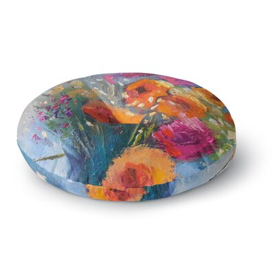 Carol Schiff Roadside Bouquet Round Floor Pillow Size: 23 x 23