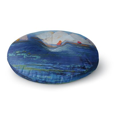 Carol Schiff Swirls Round Floor Pillow Size: 26 x 26
