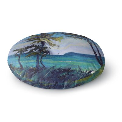 Carol Schiff Room with a View Round Floor Pillow Size: 26 x 26