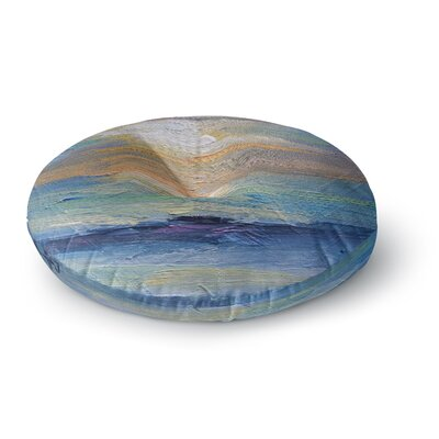 Carol Schiff Ocean Sunset Coastal Round Floor Pillow Size: 23 x 23