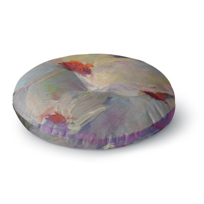 Carol Schiff Dreaming of Dogwood Round Floor Pillow Size: 23 x 23
