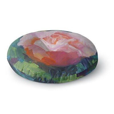 Carol Schiff Rose Painting Round Floor Pillow Size: 26 x 26