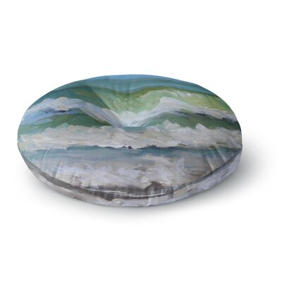 Carol Schiff Atlantic Breakers Painting Round Floor Pillow Size: 26 x 26