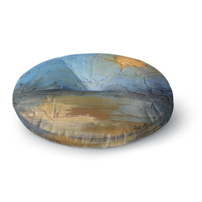 Carol Schiff Moon Glow Mixed Media Round Floor Pillow Size: 26 x 26
