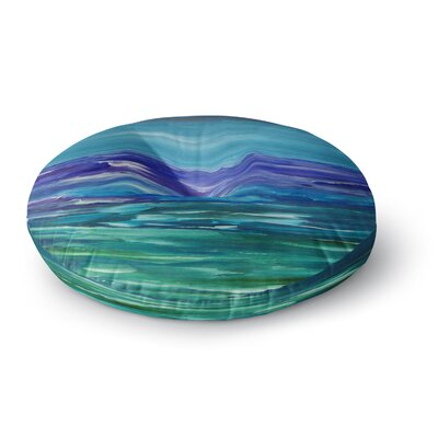 Cyndi Steen Moonlit Waves Round Floor Pillow Size: 23 x 23