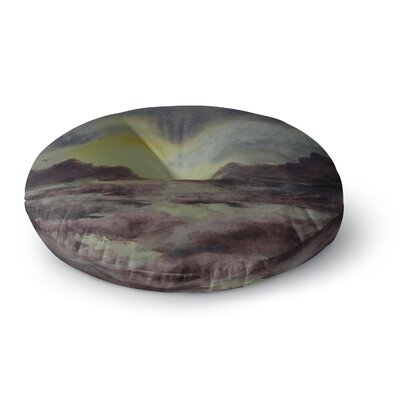 Cyndi Steen Crashing Waves Round Floor Pillow Size: 26 x 26