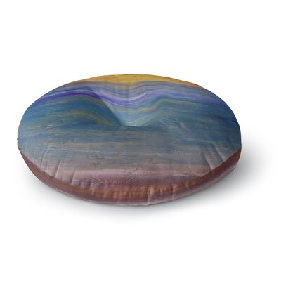 Cyndi Steen Sky on Fire Round Floor Pillow Size: 26 x 26