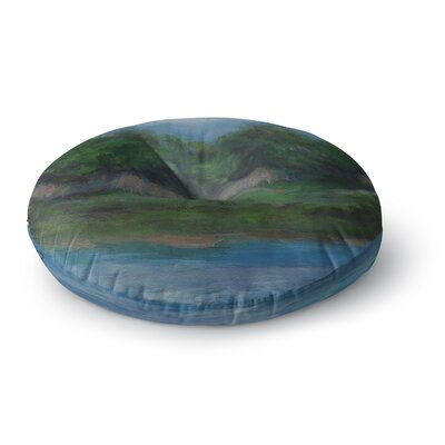 Cyndi Steen A Cooler View Round Floor Pillow Size: 26 x 26