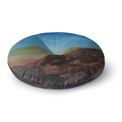 Cyndi Steen Beach Rocks Coastal Round Floor Pillow Size: 23 x 23