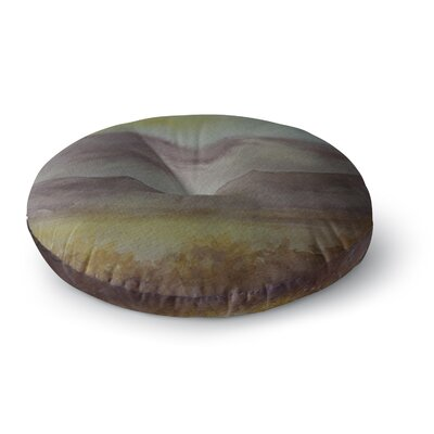 Cyndi Steen Mauve Sunset Nature Round Floor Pillow Size: 23 x 23