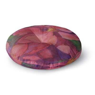 Cyndi Steen Cool Poinsettias Round Floor Pillow Size: 26 x 26
