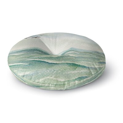 Cyndi Steen Flock Flying Low Coastal Round Floor Pillow Size: 23 x 23