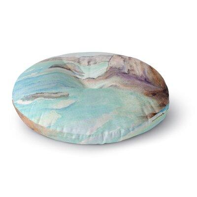 Cyndi Steen Cliffs at Normandie Travel Round Floor Pillow Size: 26 x 26