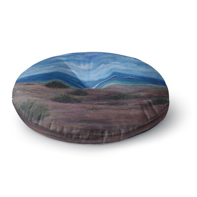 Cyndi Steen Donnas Beach Painting Round Floor Pillow Size: 23 x 23