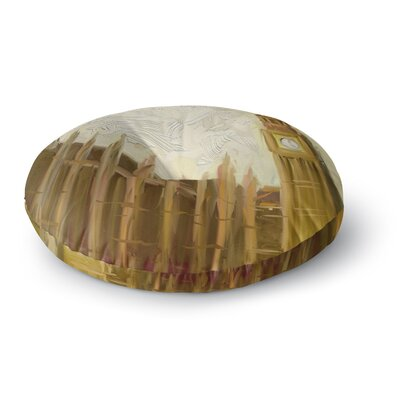 Cyndi Steen British Parliament Digital Round Floor Pillow Size: 26 x 26
