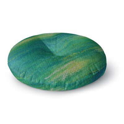 Cyndi Steen Phthalo Abstract Watercolor Round Floor Pillow Size: 23 x 23