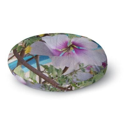 Cyndi Steen a Climber Digital Round Floor Pillow Size: 23 x 23