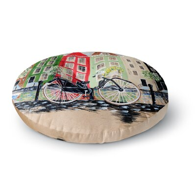 Christen Treat Bicycle Round Floor Pillow Size: 23 x 23