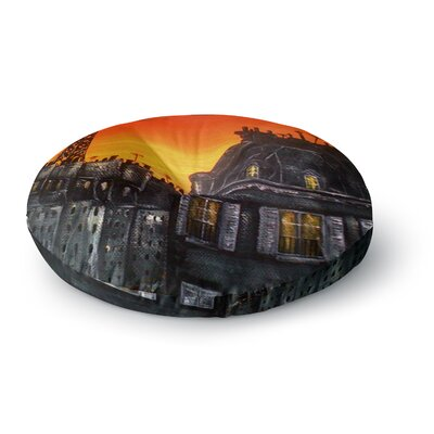 Christen Treat Paris Round Floor Pillow Size: 26 x 26