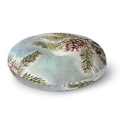 Christen Treat Pinecones and Sky Round Floor Pillow Size: 26 x 26