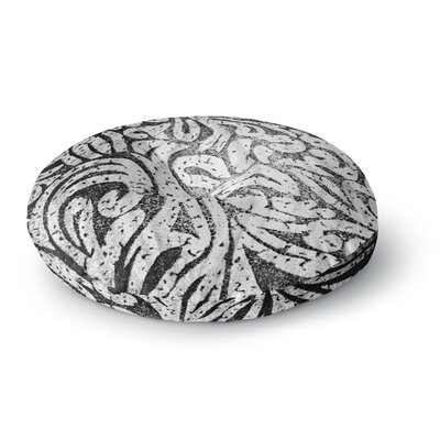 Alveron Spring Paisley Round Floor Pillow Size: 23 x 23, Color: Black/Gray