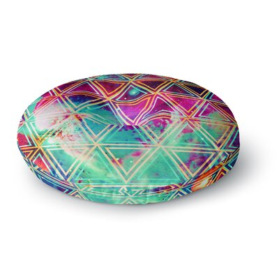 Alveron Geo Galaxy Round Floor Pillow Size: 23 x 23