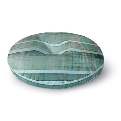 CarolLynn Tice Line Up Round Floor Pillow Size: 23 x 23, Color: Teal