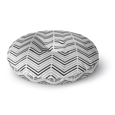 CarolLynn Tice Symetrical Round Floor Pillow Size: 23 x 23, Color: Black