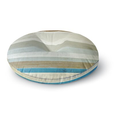 CarolLynn Tice Grape Round Floor Pillow Size: 23 x 23, Color: Brown