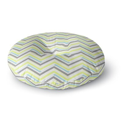 CarolLynn Tice Symetrical Round Floor Pillow Size: 23 x 23, Color: Gray