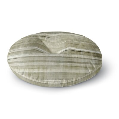 CarolLynn Tice Simplicity Light Round Floor Pillow Size: 26 x 26, Color: Brown