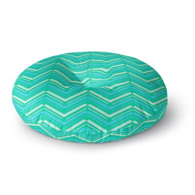 CarolLynn Tice Symetrical Round Floor Pillow Size: 23 x 23, Color: Teal