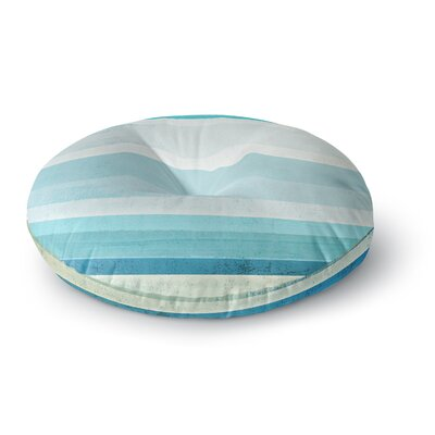 CarolLynn Tice Grape Round Floor Pillow Size: 26 x 26, Color: Blue