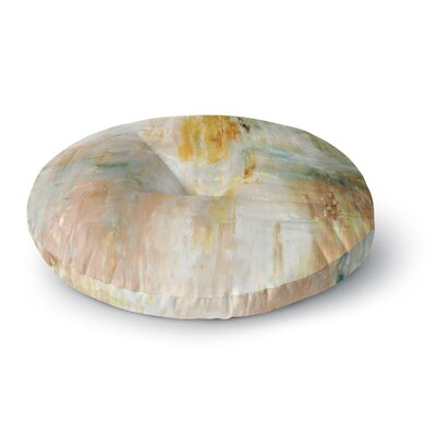 CarolLynn Tice Coffee Paint Round Floor Pillow Size: 23 x 23