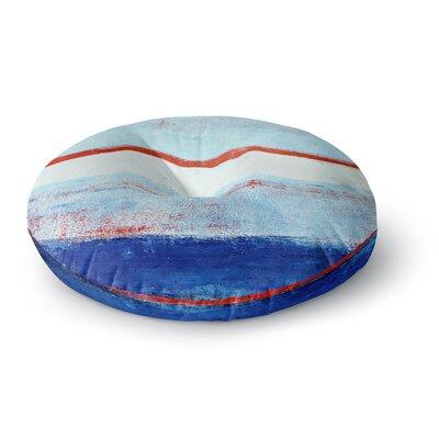 CarolLynn Tice Stripes Round Floor Pillow Size: 23 x 23