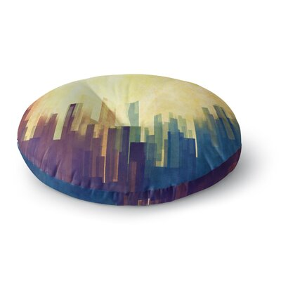 Cvetelina Todorova Cloud City Round Floor Pillow Size: 26 x 26