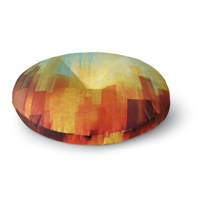 Cvetelina Todorova Urban Sunset Geometric Round Floor Pillow Size: 26 x 26