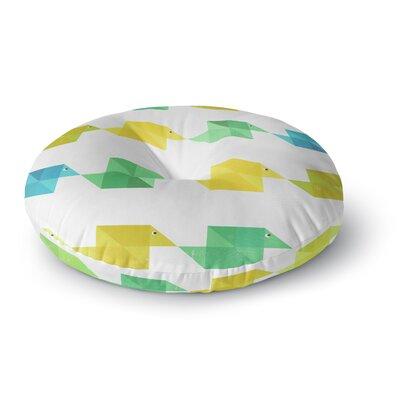 Cvetelina Todorova Duck Pattern Round Floor Pillow Size: 26 x 26