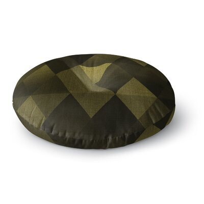 Cvetelina Todorova Triangles Round Floor Pillow Size: 26 x 26