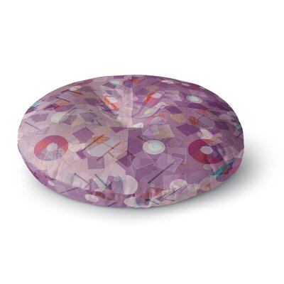 Cvetelina Todorova Mess Abstract Round Floor Pillow Size: 26 x 26