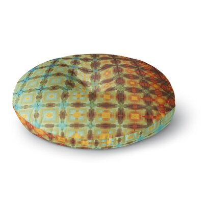 Cvetelina Todorova Colorful Grid Digital Round Floor Pillow Size: 23 x 23