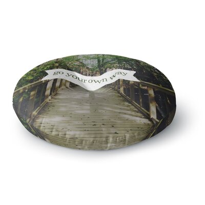 Chelsea Victoria Go Your Own Way Nature Round Floor Pillow Size: 23 x 23