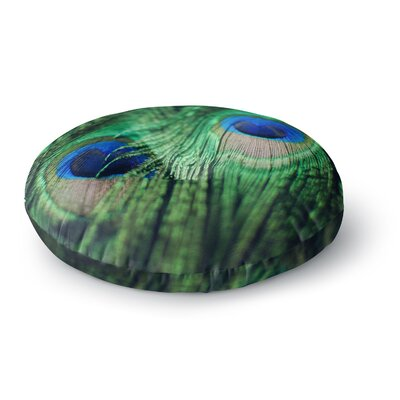 Chelsea Victoria Peacock Feathers Round Floor Pillow Size: 26 x 26